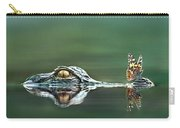 American Alligator And Butterfly Carry-all Pouch