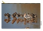 American Avocet And Sleeping Dowitchers Carry-all Pouch