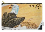 American Bald Eagle Vintage Postage Stamp Print Carry-all Pouch