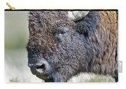 American Bison Closeup Carry-all Pouch