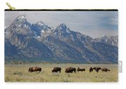 American Bison Herd Carry-all Pouch