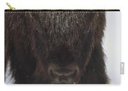 American Bison Portrait Carry-all Pouch by Tim Fitzharris