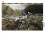 American Dipper Feeding Young Costa Rica Carry-all Pouch