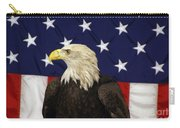 American Eagle And Flag Carry-all Pouch