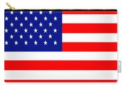 American Flag . Square Carry-all Pouch