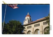 American Flag And Hoover Tower Stanford University Carry-all Pouch