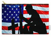 A Time To Remember American Flag At Rest Carry-all Pouch
