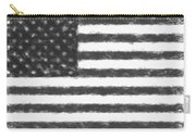 American Flag Charcoal Carry-all Pouch