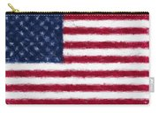 American Flag Embossed Carry-all Pouch