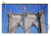 American Flag Flying Over Brooklyn Carry-all Pouch