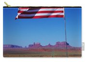 American Flag In Monument Valley Carry-all Pouch
