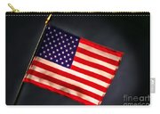 American Flag In Smoke Carry-all Pouch