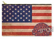 American Flag Made In China Carry-all Pouch