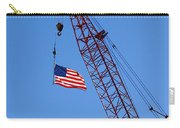 American Flag On Construction Crane Carry-all Pouch
