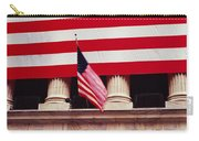 American Flag On The Front Carry-all Pouch