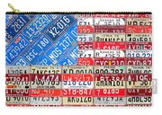American Flag Recycled License Plate Art Carry-all Pouch