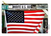 American Flag Route 66 Carry-all Pouch