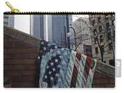 American Flag Tattered Carry-all Pouch