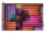 American Flags Carry-all Pouch by Tony Rubino