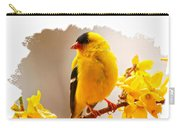 American Goldfinch Branch Of Forsythia Carry-all Pouch