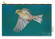 American Goldfinch Hen In Flight Carry-all Pouch