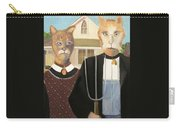 American Gothic Cat Carry-all Pouch