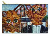 American Gothic Cats - A Parody Carry-all Pouch