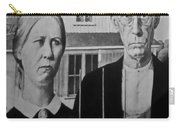 American Gothic In Black And White 1 Carry-all Pouch