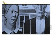 American Gothic In Cyan Carry-all Pouch