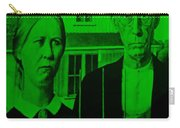 American Gothic In Green Carry-all Pouch