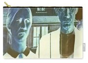 American Gothic In Negative Carry-all Pouch