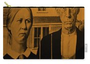 American Gothic In Orange Carry-all Pouch