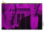 American Gothic In Purple Carry-all Pouch