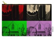 American Gothic In Quad Colors Carry-all Pouch