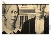 American Gothic In Sepia Carry-all Pouch