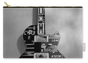 American Guitar In Black And White1 Carry-all Pouch