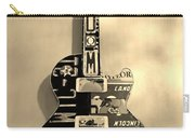 American Guitar In Sepia Carry-all Pouch