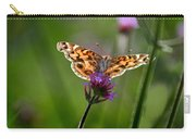 American Lady Butterfly In Garden Carry-all Pouch