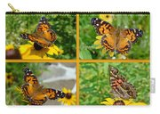 American Lady Butterfly - Vanessa Virginiensis Carry-all Pouch