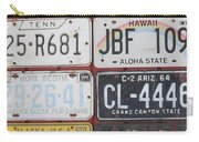 American License Plates Carry-all Pouch