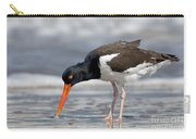 American Oystercatcher Feeding On Clam Carry-all Pouch