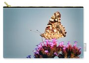 American Painted Lady Butterfly Blue Background Carry-all Pouch
