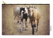 American Quarter Horse Herd Carry-all Pouch by Betty LaRue