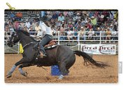 American Rodeo Female Barrel Racer Dark Horse II Carry-all Pouch