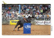 American Rodeo Female Barrel Racer Dark Horse Iv Carry-all Pouch