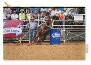 American Rodeo Female Barrel Racer White Blaze Chestnut Horse Iv Carry-all Pouch by Sally Rockefeller