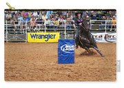 American Rodeo Female Barrel Racer White Star Horse I Carry-all Pouch by Sally Rockefeller