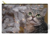 American Shorthair Cat With Holiday Tree Carry-all Pouch