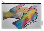 American Sign Language ... Lead Me Gently Carry-all Pouch by Eloise Schneider
