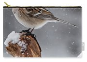 American Tree Sparrow In Snow Carry-all Pouch